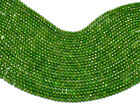 "AAA+ Natural Chrome Diopside Gemstone 2mm-3mm Faceted Rondelle Beads 13"" Strand"