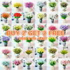 Us Artificial Flower Fake Plant Vase Floral Home Outdoor Decoration Buy2get2free