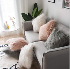 New Faux Fur Cushion Cover Furry Soft Pillow Cushion Cover Home Shop Decoration