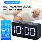 Digital LED Alarm Clock w/USB Snooze Table Clock Electronic Clock Thermometer US