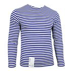 Long Sleeve Top Light Blue Stripe Russian Paratrooper Surplus Military A02105