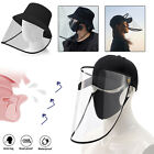 Fisherman Cap + Protective Clear Full face Cover Dust-proof Sun Visor Hat Unisex