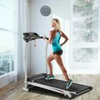 Folding Electric Motorized Treadmill Home Running Machine 1200W Manual Incline