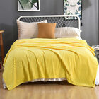 Flannel Fleece Throw Blanket Reversible Faux Fur Ultra Soft Sofa Couch Bed Decor