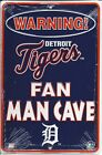 Detroit Tigers Man Cave Metal Parking Sign - SP80058 on Ebay