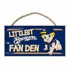 "Milwaukee Brewers Littlest Fan 5"" x 10"" Wood Sign w/ Rope on Ebay"