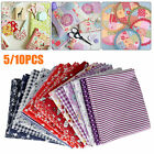 5/10Pcs DIY 50*50cm Mixed Pattern Cotton Fabric Sewing Quilting Patchwork Crafts