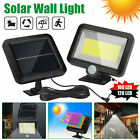100/120 LED Solar Power PIR Motion Outdoor Garden Light Security Flood Wall Lamp