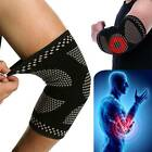 Copper Elbow Brace Support Arm Compression Sleeve Elastic Tennis fit Tendonitis
