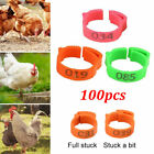 100x Chicken Hen Pigeon Leg Poultry Dove Bird Chicks Duck Parrot Clip Band Rings