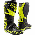 Neu Fox Racing Instinct Motocross Stiefel Neon Gelb Moto Bottes Enduro OUTLET