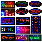 Boshen Bright LED Neon Light Animated Motion w/ ON/OFF Store OPEN Business Sign