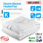 Fully Fitted Washable Electric Blanket Heated Pad Winter Warm Underlay 5 Size AU