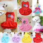 Dog Skirt Pet Dress Cotton Small Dogs Princess Dress Chihuahua Puppy Cat Clothes