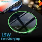 US Fast 15W Qi Wireless Charger Charging Pad Mat For iPhone 11 11Pro Max 8 XS XR