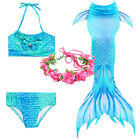 Kids Girls Mermaid Tail Swimmable Swimming Bikini Swimear Swimsuit Costumes 2020