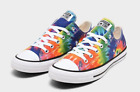 Converse Tie Dye Womens All Star Chuck Taylor Multi rainbow color sneaker