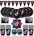 tik tok tiktok music Birthday Party Decoration BALLOON supplies cupcake banner