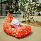 Waterproof Outdoor bean bags, Orange bean bag chair + waterproof inner case