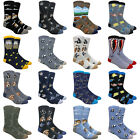 Men's Cool and Colorful Patterned Novelty Animal Crew Dress Socks, Multi-Packs