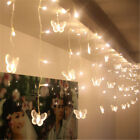 11.5FT 96 LED Butterfly String Curtain Light For Christmas Holiday Wedding Party