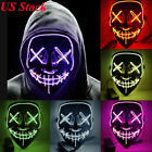 Halloween Mask LED Light Up Funny Mask Cosplay Costume Party Decor Festival Gift
