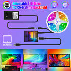 DIY Ambilight TV USB RGB LED Strip Tape Computer PC Dream Screen Backlight 1-5M