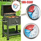 BBQ Grill Temperature Gauge Tool Smoker Pit Cooking Thermometer Stainless Steel