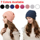 Knit Baggy Beanie Hat Women Men Oversize Winter Ski Fleece Slouchy Skull Cap US
