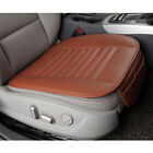 Leather Car Front Bucket Seat Cover Bottom Pad Mat Cushion Protector Universal