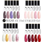 UR SUGAR 5 Bottles Set Gel Nail Polish UV LED Soak Off Top Base Varnish Salon