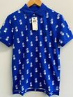 NEW Polo Ralph Lauren Men's Classic-Fit Polo Shirt Pineapple-Print Royal Blue Po