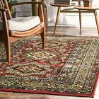 nuLOOM Indoor/Outdoor Transitional Medieval Randy Area Rug in Red