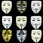 Anonymous Hacker Vendetta Guy V  Mask Halloween Cover Face Party Cosplay Props