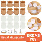 16/32/48X Silicone Chair Leg Feet Cap Floor Protector Cover Furniture Pad w/Felt