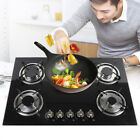 """23""""/30"""" Gas Cooktop 5 Burners Built-in Stove Tempered Glass NG / LPG Gas Cooker"""