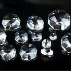 10mm-32mm Clear Crystal Octagon Beads Crystal Chandelier 2Hole Prisms Decoration