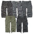 BRANDIT INDUSTRY 3/4 LEGNTH SHORTS MILITARY ARMY VINTAGE CARGO COMBAT