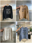 NEW Loewe embroidered sweatshirt with round neck and long sleeves S-----XL
