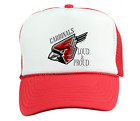 Trucker Hat Cap Foam Mesh School Team Mascot Cardinals Metal Loud Proud