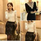 Women's Clothing Long Sleeve Lace Tops Shirt Blouse Ladies Korean Fashion hot!!