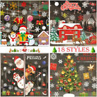 🎄christmas Santa Removable Window Stickers Art Decal Wall Home Party Xmas Decor