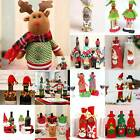 2020 Merry Christmas Santa Elk Wine Bottle Bag Cover Xmas Party Table Decor Gift