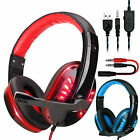 3.5mm Gaming Headset Noise Canceling Mic Surround Sound for PC,PS4,Xbox One