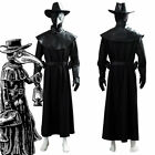 Plague Doctor Steampunk Cosplay Costume Brird Mask Cape Long Gown Hat