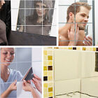 32 Pcs Square Self Adhesive Mirror Tile Wall Sticker Room Art Decals Home Decor