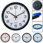 Retro Wall Clock Silent Sweep Movement Work Bedroom Kitchen Easy to Read Clocks