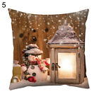LT_ EE_ AM_ QA_ Xmas Candle Light Gnome Snow Pillow Case Cushion Cover Sofa Be