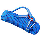 10/12mm Climbing Rope Gym Mountaineering Safety Rock Rappelling Cord w/Carabiner