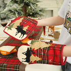 Lt_ Christmas Heat Insulation Pad Glove Placemat Wine Bottle Cover Tree Skirt